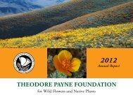 2012 Annual Report - Theodore Payne Foundation