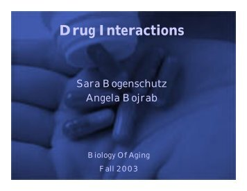 Drug Interactions - IPFW.edu