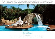 WELL-BEING & THALASSO EXPERIENCE AT FORTE VILLAGE ...