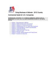 2011 Bahrain Country Commercial Guide - US - Export.gov