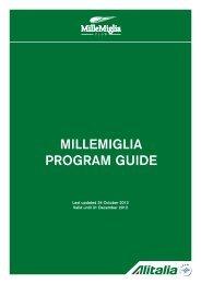 MILLEMIGLIA PROGRAM GUIDE - Alitalia