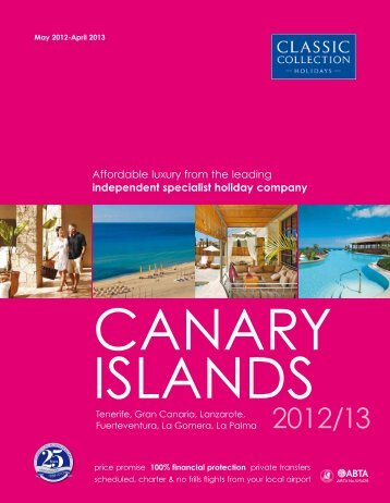 Classic Collection – Canary islands – brochure 2012/2013