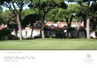 GOLF VILLAS T1 | T2 - Onyria Golf Resorts