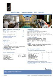mgallery development factsheet - Accor