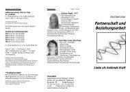 Partnerschaft und Beziehungsarbeit Liebe als ... - Hans Peter Crone