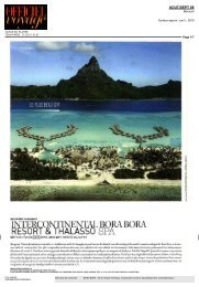 intercontinental bora bora resort & thalasso spa - Tahiti Tourisme