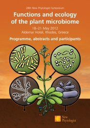 Download the 28th NPS abstract book - New Phytologist Trust