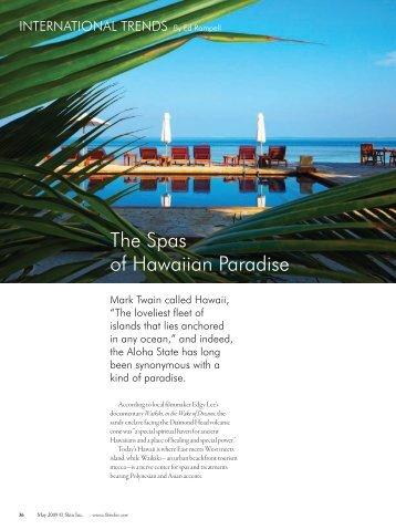 The Spas of Hawaiian Paradise - Spa Pure Waikiki