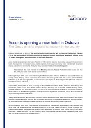 Accor is opening a new hotel in Ostrava