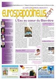 L'Eau au coeur du Bien-être - Eurospapoolnews.com