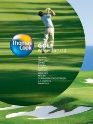 THOMAS COOK - Golf - Winter 2011/2012 - Letenky.sk