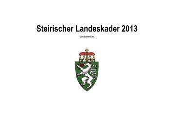 Entwurf Landeskader 2013 - steirischer Fachverband für ...