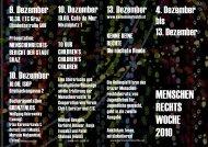 Weitere Veranstaltungen in der Menschenrechtswoche ... - ETC Graz