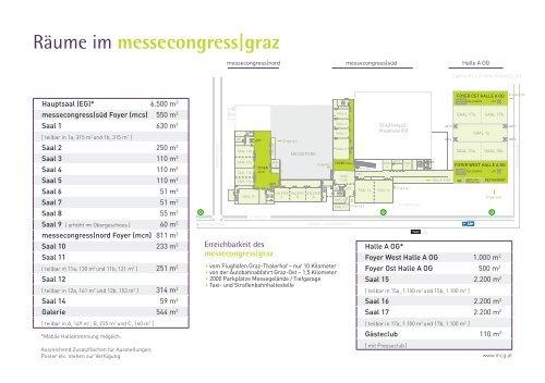 Informationsblatt_Messecongress Graz_dt. - Graz Tourismus