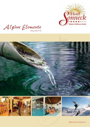 prospekt download - Alpine Wellness Hotel Sonneck