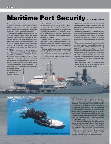 Maritime Port Security by M Hanif Ismail
