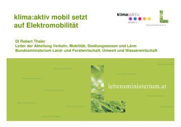 Pr-344s E-Mobilit-344t klima-aktiv-mobil RT 7-Szbg Verkehrstage ...