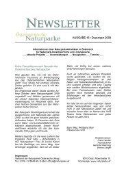NEWSLETTER - Naturparke