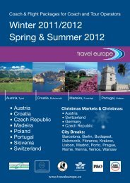 Coach & Flight Packages For Coach And Tour - Travel Europe