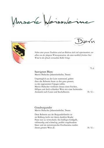 Sauvignon Blanc Grauburgunder - hohliebestuebli.ch