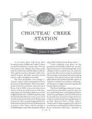 CHOUTEAU CREEK STATION - University of South Dakota