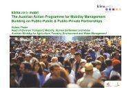 klima:aktiv mobil The Austrian Action Programme for Mobility ... - EPSA