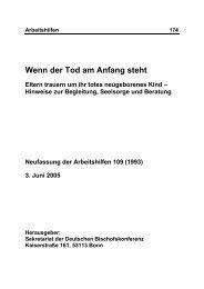 Wenn der Tod am Anfang steht - Deutsches Liturgisches Institut
