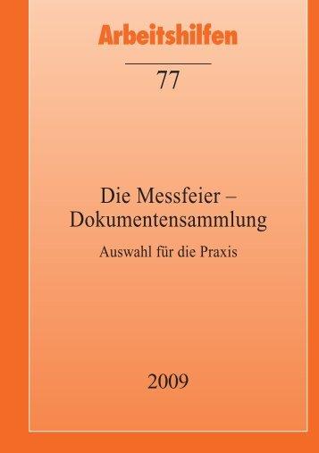 Die Messfeier - Dokumentensammlung. Auswahl ... - Directserver.org