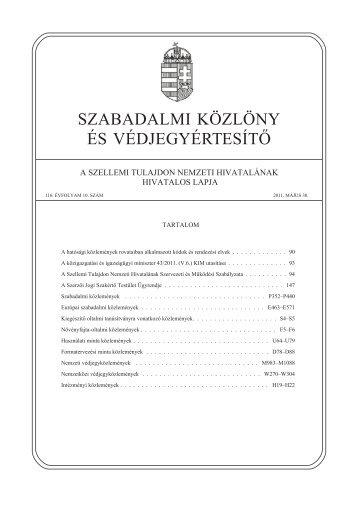 PDF 24,1 MB - Szellemi Tulajdon Nemzeti Hivatala