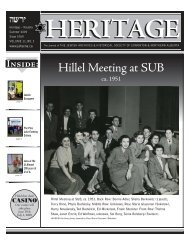 Summer 2009 - Jewish Archives & Historical Society of Edmonton and