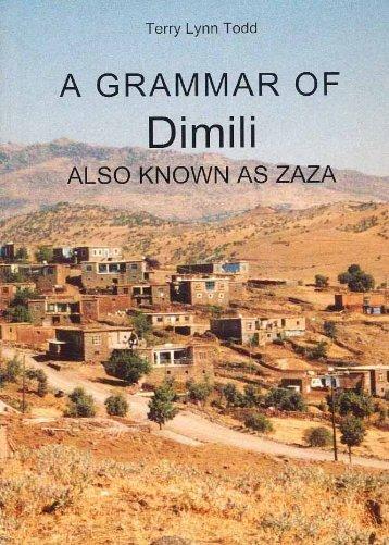 A GRAMMAR OF Dimili - Dimilki.Net