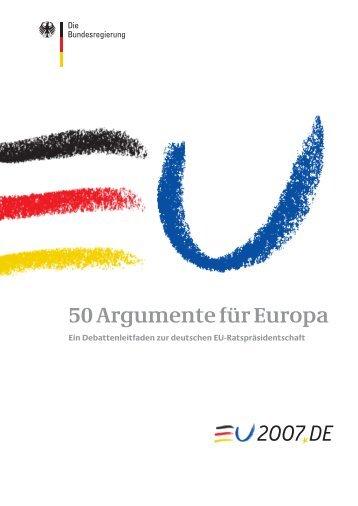 50 Argumente für Europa - EU-Direct