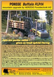 PONSSE Buffalo ALPIN - Herzog Forsttechnik