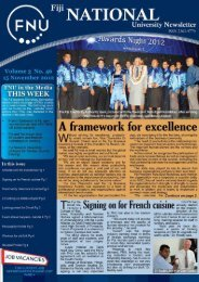 FNU Newsletter Vol3 No 46 May 03 2012 - Fiji National University
