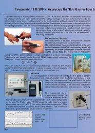 Tewameter® TM 300 – Assessing the Skin Barrier Function by ...