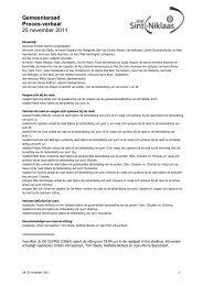 verslag november 2011.pdf - Stad Sint-Niklaas