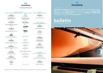 Bulletin 1/2005 - Siempelkamp