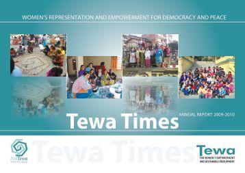 Annual Report 2009 - Tewa