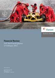 Fyr2011 financialreviewq4 [1029 kb] - Clariant
