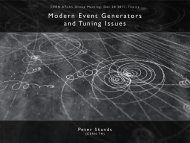 Modern Event Generators and Tuning Issues - Peter Skands - Cern