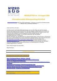 Newsletter Bildungsauftrag Nord-Süd Nr. 18 Oktober 2008 - WUS