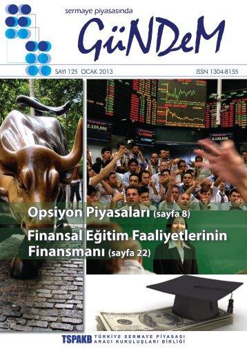 Opsiyon Piyasaları (sayfa 8) Finansal Eğitim Faaliyetlerinin ... - Tspakb