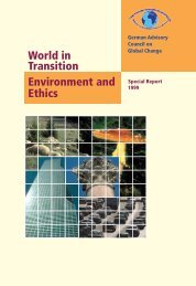 World in Transition: Environment and Ethics - WBGU