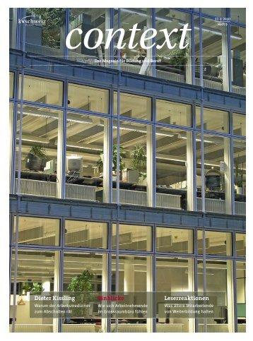 Nr. 9 / September 2010 - Grossraumbüro (PDF, 2645 kb - KV Schweiz