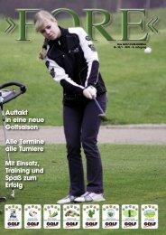 Auftakt in eine neue Golfsaison Alle Termine alle ... - GOLF absolute