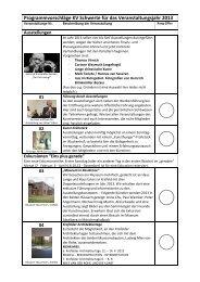 Programmvorschlag 2013 - Kunstverein Schwerte