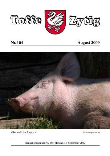 Nr. 164 August 2009 - Toffe Zytig