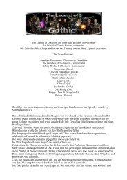 The Legend of Gothic ist aus einer Idee aus dem Story-Forum des ...