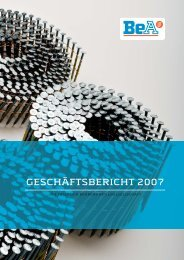 GESCHÄFTSBERICHT 2007 - BeA