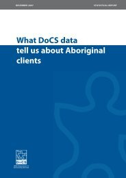 What DoCS data tell us about Aboriginal clients - NSW Department ...